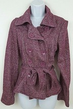 New Look Women's Purple Button Jacket Medium - $19.34