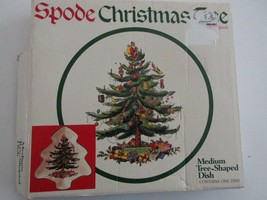"Spode Christmas Tree-Shaped Serving Dish Made in England Medium China 9""x8"" - $21.95"