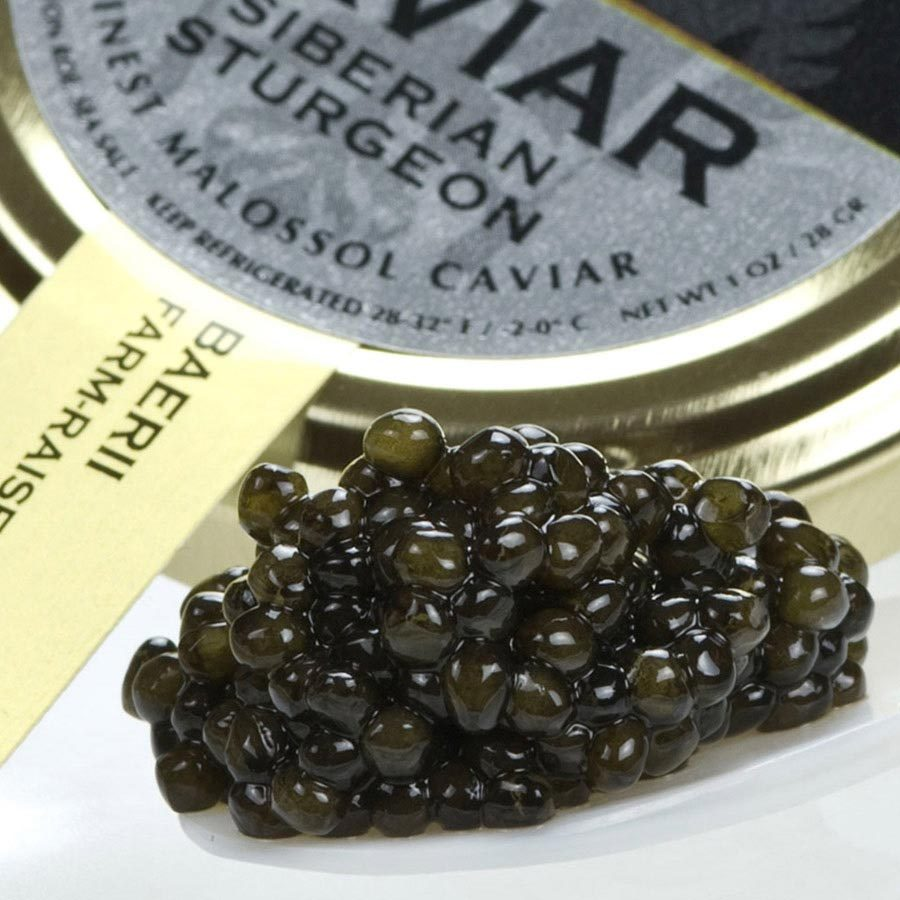 French Siberian Sturgeon Caviar (A. baerii) - Malossol, Farm Raised - 4 oz, glas - $349.07