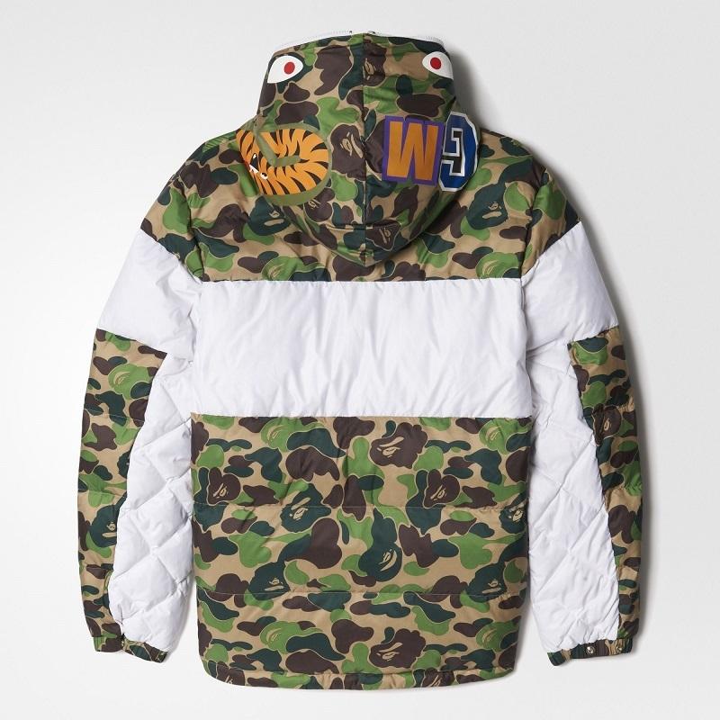 Adidas Winter Mens ID96 Down Bape Jacket BK4568 Camo Shark WGM Bathing APE DS