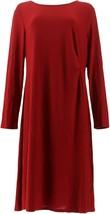 Dennis Basso Fit Flare Caviar Crepe Dress Garnet Red 26W NEW A301429 - $45.52