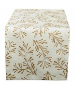 """DII Metallic Holly Leaves Table Runner NEW 14x108"""" Holiday Design Imports - $18.62"""