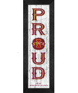 "Iowa State Cyclones ""Proud & Loyal""-8x24  Wood-Textured Look Framed Print - $39.95"