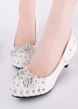 rhinestone shoes ivory wedding shoes,lace closed toe heels,lace up bridal shoes - $38.00