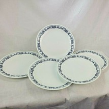 """5 Corelle Corning Old Town Blue Onion White Dinner Plates 10 1/4"""" - $33.24"""