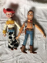 Set of 2 Disney TOY STORY Woody Jessie with hat Dolls Does not talk Larg... - $29.07