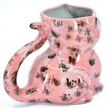 Ceramic Hand Painted Kitten Cat Figure Coffee Cup Mug Handmade Guatemala image 4