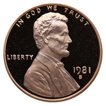 1981-S Lincoln Memorial Cent Penny Gem Proof US Mint Coin Uncirculated UNC - $7.99