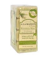 A La Maison Bar Soap - Rosemary Mint - Value 4 Pack - $7.49