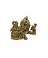 NICE New Gold Plated over real silver 3D Cat and mouse best friends fore... - $29.81