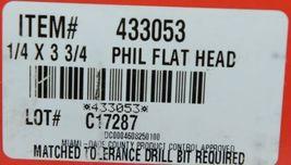 HILTI KWIK CON II PLUS 433053 Phillips Flat Head Screws 1/4 x 3 3/4 Box of 100 image 5