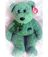 "2001 TY Beanie Buddies Collection  ""Shamrock"" Irish Luck Bear 14"" Super ... - $22.86"