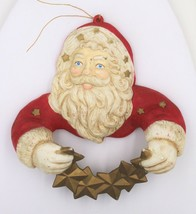 Vintage 1991 Silvestri Christmas Tree Ornament Santa Claus Garland Holder - $14.99