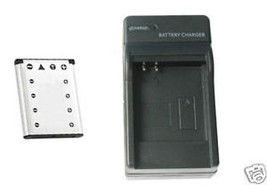 Battery + Charger for Casio EX-ZS5B EX-Z115 EXZ115 EX-Z16 EX-Z16BL EX-Z16PK - $25.17