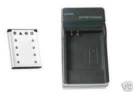 Battery + Charger For Casio EX-ZS5B EX-Z115 EXZ115 EX-Z16 EX-Z16BL EX-Z16PK - $25.17