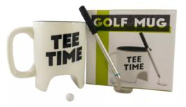 NPW Golf Mug Gift Set Tee Time Cup Club Pen Ball Coffee Tea Gift image 1