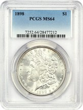 1898 $1 PCGS MS64 - Morgan Silver Dollar - $82.45