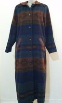 Vintage LL Bean women coat Southwest Native blanket full length button s... - $58.34