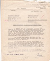 British Transport Commission 1959 Staff Suggest Luminous Flags Letter Re... - $7.59