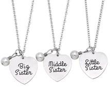 O.RIYA 3 Best Friend Necklace, Sister Gifts Necklac Keychain Jewelry,Bri... - $14.94