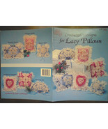 Crocheted Designs for Lacy Pillows, crochet pillow pattern, crochet lace... - $10.00