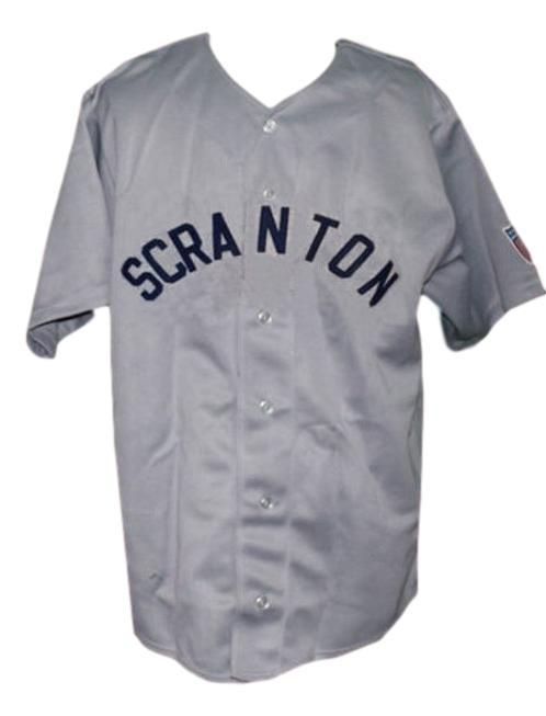Scranton miners retro baseball jersey 1945 button down grey   1