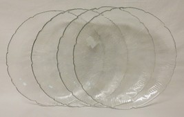 Free shipping – NEW – CANTERBURY – 4 clear glass dinner plates - Arcoroc - $19.59