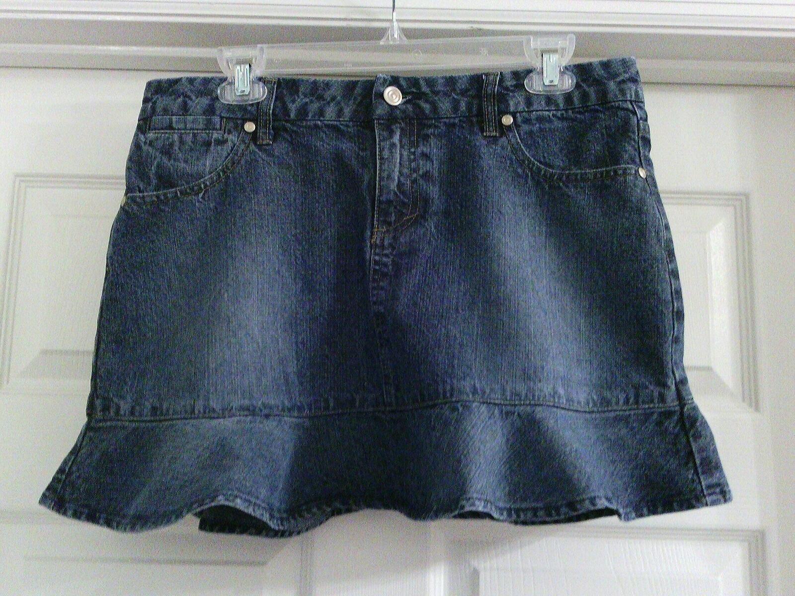 Xhilaration Ruffle Denim Mini Skirt 13