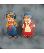 Wonderful Vintage Cold Painted Bisque Dutch Boy and Girl, Japan, Outstan... - $29.92