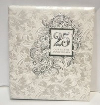 Hallmark AA2018 25th Our Silver Anniversary Refillable Keepsake Album 3 Rings image 2