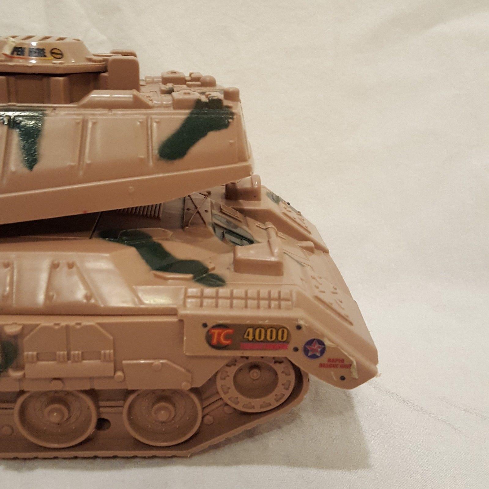 "Army Tank U.S. TC 4000 Rapid Rescue Unit 18 Toy Plastic 2003 No Sound 4"""