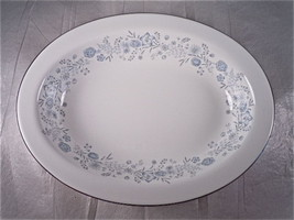Wedgwood Belle Fleur Oval Vegetable Bowl - $79.19