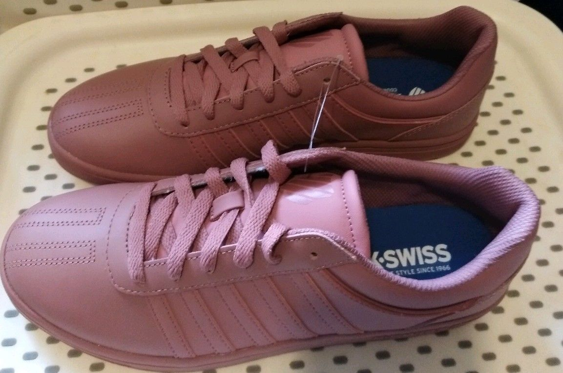 Womens K-Swiss Court Chesterfield Sneakers - Rose Gold