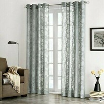 "Madison Park Figaro Sheer Fabric 50""W x 95""H Window Panel, Gray - $25.73"