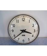 "IBM 13"" School Factory Metal Glass Bubble Face Wall Clock 95925 Hard Wired - $44.57"
