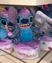 Disney Parks Exclusive Stitch Happy Birthday Cake Light Up Plush New - $48.99