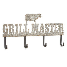 Darice Grill Master Wall Hook: Silver/Black, 18 x 9 inches w - $26.99