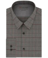 Calvin Klein Red & Grey Check  Extra-Slim Fit Temperature Regulating Dre... - $21.95