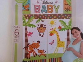 Fisher Price ANIMALS OF RAINFOREST Scene Setter WELCOME BABY shower wall... - $11.29