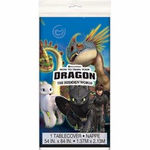 How To Train Your Dragon The Hidden World Plastic Table Cover Birthday P... - $6.44