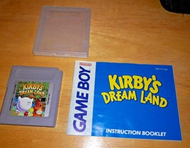Authentic Kirby's Dream Land (Nintendo Game Boy, 1992) GameBoy + clear case - $20.00