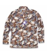 Vintage Deadstock 1970's Disco Button Shirt Size L Burma Cassini Long Sl... - $44.99