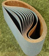 "10pc 6 "" X 108"" 80 GRIT SANDING BELT  Zirconia Made in USA Butt Joint sa... - $89.99"