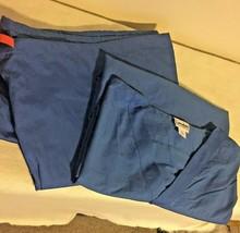 Landau Scrubs 4XL Set Of Top And Pants Royal Blue 31 Inseam - $19.34