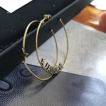 AUTHENTIC Christian Dior LIMITED EDITION J'ADIOR LARGE HOOP EARRINGS GOLD  image 6