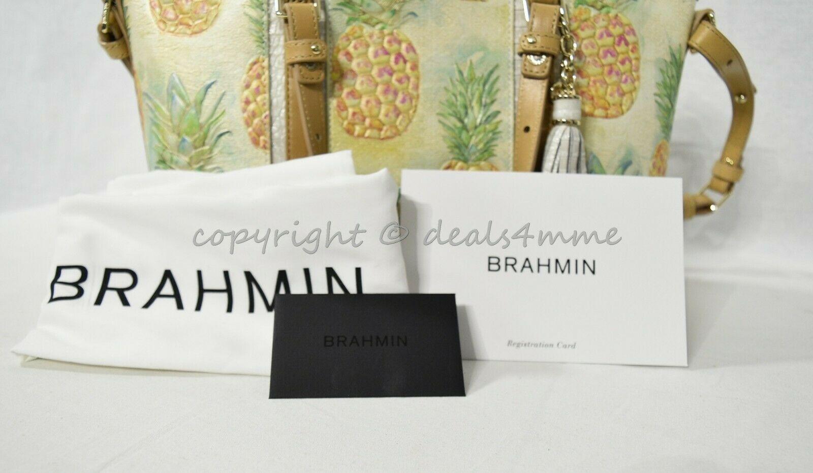 NWT Brahmin Mini Asher Leather Satchel/Shoulder Bag in Multi Pompano image 7