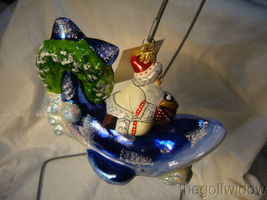 Vaillancourt Folk Art Nantucket Santa on Whale Ornament Christmas image 4