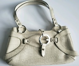 Guess handbag, Womens purse western style used, cream color medium - $29.69