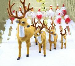 New Christmas Elk Simulation Plush Decor Xmas Reindeer Dolls Decoration ... - £19.13 GBP