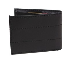 NEW LEVI'S MEN'S COATED LEATHER MANMADE INTERIOR SLIMFOLD WALLET BLACK 31LV13C8 image 2